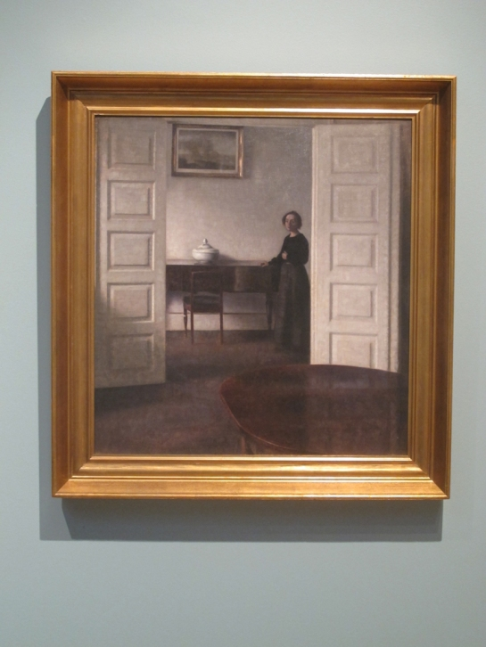 Vilhelm Hammershoi, Interior from Bredgade with the artist's wife