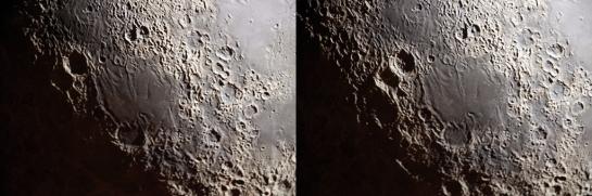Stereoscopic Moon