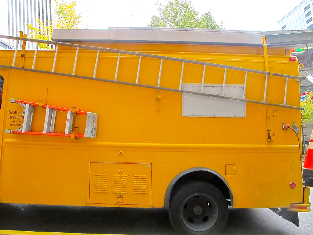 Yellow Truck With Ladders | Nat Chard