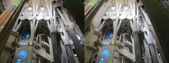 Sagrada Familia in stereo